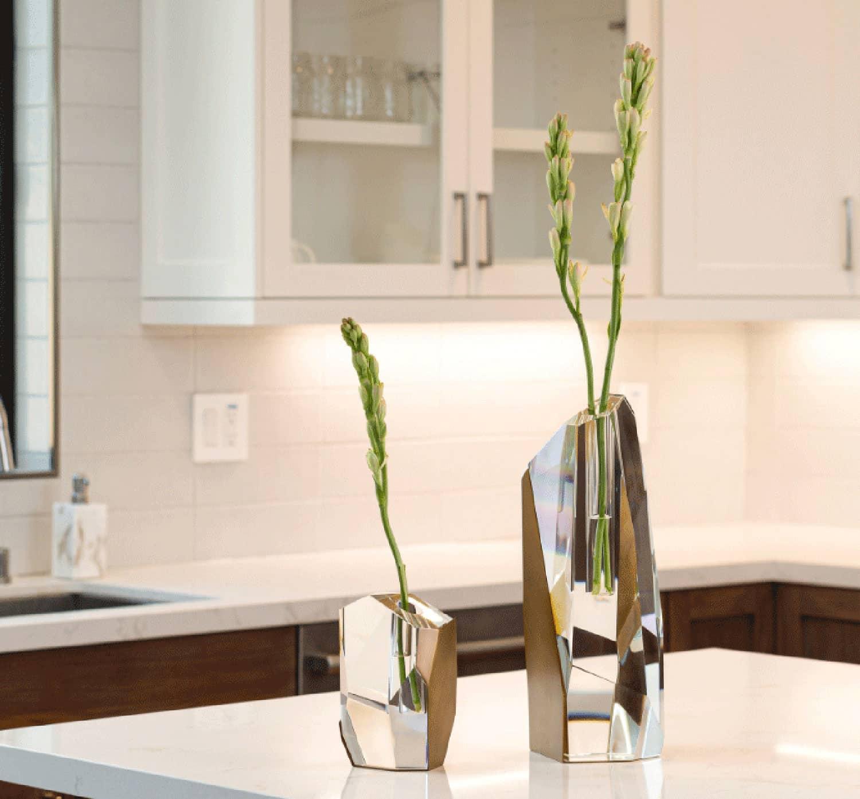 Crystal Brass Vase