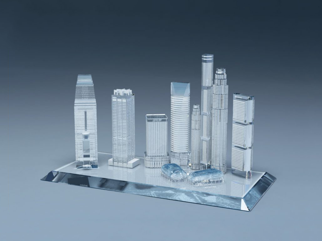 Custom Crystal Singapore Skyline