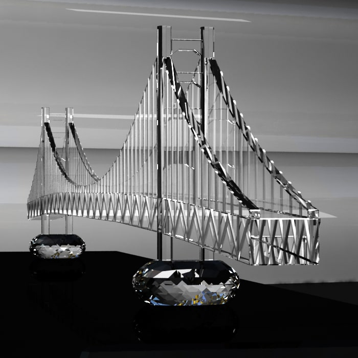 Scale Model Golden Gate Bridge