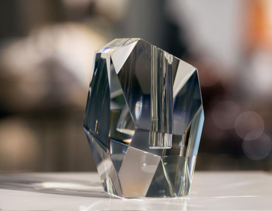 modern clear crystal vase_back angle