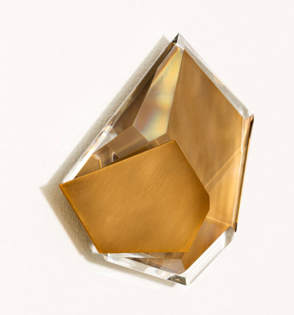 Crystal and brass wall decoration