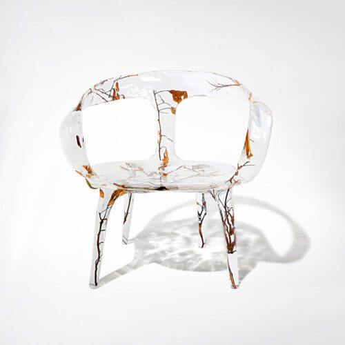 crystal arm chair