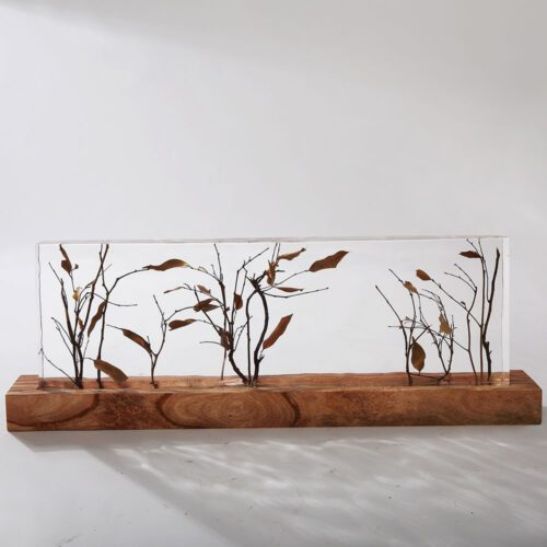 Modern Crystal and Branches Tabletop Decor