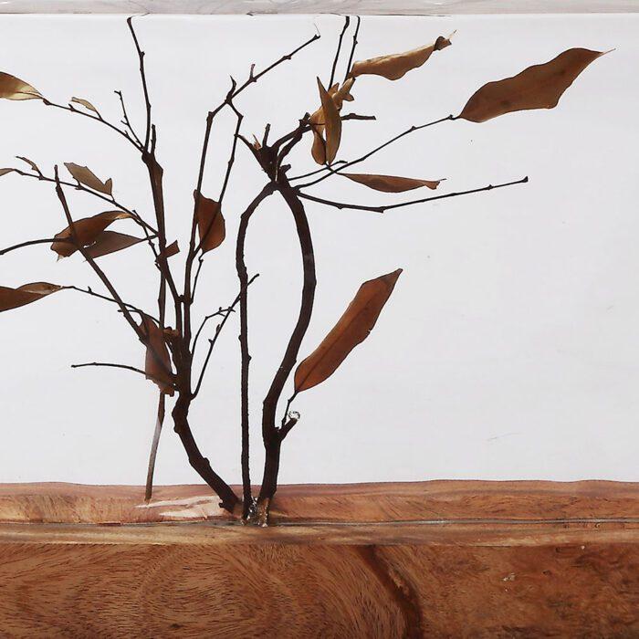 dry wood leaves decoration