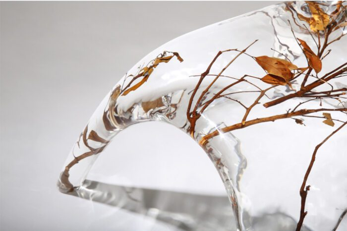 Crystal and Branches Low Back Chair