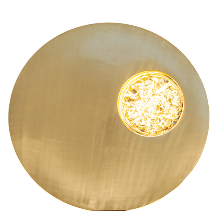 Modern Crystal And Brass Wall Sconce Lighting