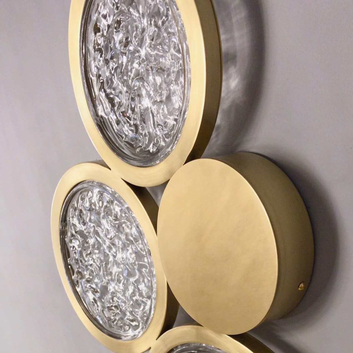 brass wall sconce lighting crystal and brass circles 2